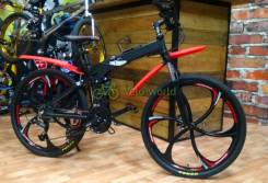 "26"" Велосипед складной алюминий MATE. Black на Microshift/ShimanoAlivio"