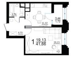 1-комнатная, улица Берзарина 28. Щукино, частное лицо, 42кв.м.