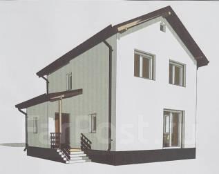 Проект дома 2 этажа. до 100 кв. м., 2 этажа, 3 комнаты, каркас
