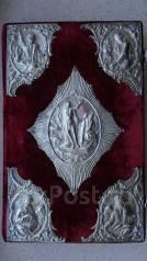 Старинное напрестольное Евангелие с серебряными накладками. 1717 год. Оригинал