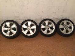 """Продам комплект колес Prius на 17 с летней резиной. 7.0x17"""" 5x100.00 ET50 ЦО 73,0мм."""