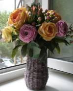 Шикарный интерьерный букет из цветов ручной работы
