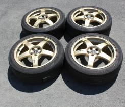 """Кованые диски RAYS STI R17 7.0 +55 5x100 + Dunlop Lemans 215/45R17. 7.0x17"""" 5x100.00 ET55"""