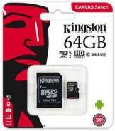 MicroSDXC. 64Гб, интерфейс micro SDXC, SDXC