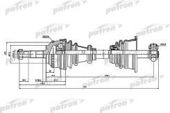 Приводной вал PATRON PDS1397