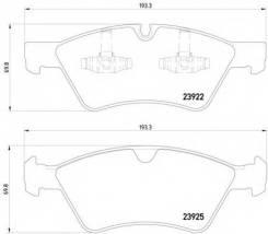 Комплект тормозных колодок, дисковых TEXTAR 2392201