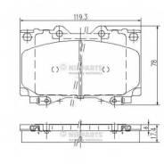 Комплект тормозных колодок, дисковых NIPPARTS J3602097