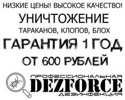 Профессиональное уничтожение вредителей-тараканов, клопов, блох, моли