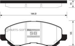 Колодки дисковые передние Mitsubishi Lancer 1.6/2.0 03>/Space Runner 2.0/2.4GDi 00> HSB HP5158