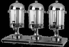 Диспенсер для напитков 8л 3 емкости HKN-DB83