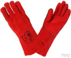 Краги сварщика с прокладкой 35мм (красные)