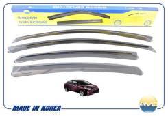 Дефлекторы окон Black (к-т 4шт) Hyundai Solaris 4d (10-) AMDDK164