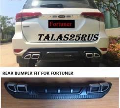 Накладки на задний бампер, дифузор TRD Toyota Fortuner 2017г. Toyota Fortuner, GUN166, TRN166 Двигатели: 1GDFTV, 2TRFE