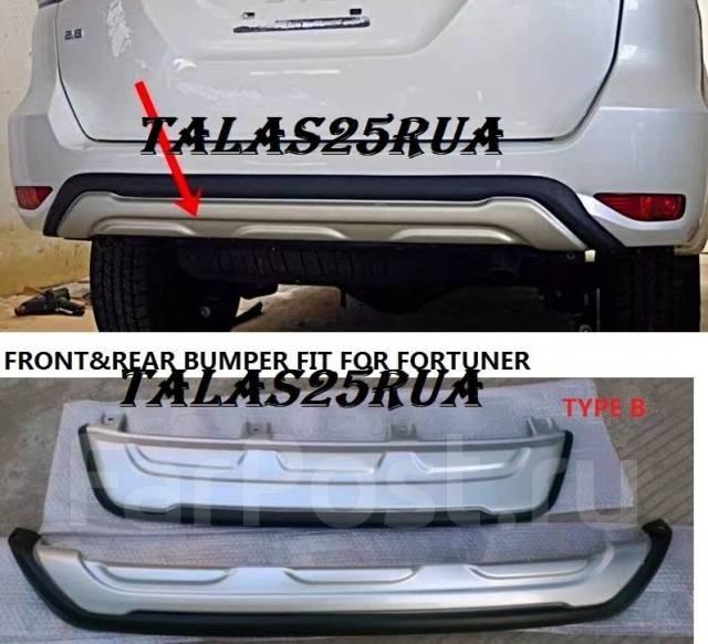 Накладка на бампер. Toyota Fortuner, GUN166, TRN166 Двигатели: 1GDFTV, 2TRFE