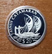 Острова Кука 20 долларов 1995 Tainui Catamaran. Корабль. Парусник
