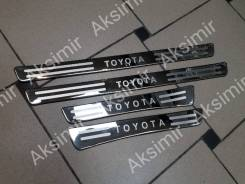 Накладка на порог. Toyota Land Cruiser, FZJ100, HDJ100, HDJ100L, J100, UZJ100, UZJ100L, UZJ100W