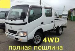 Toyota Dyna. 4WD, двухкабинник + борт, 3 000куб. см., 1 500кг., 4x4