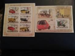 Набор марок транспорт чистые.