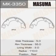 Колодки тормозные барабанные, комплект Masuma