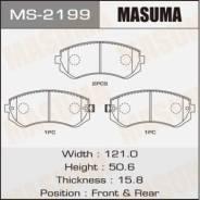Колодки тормозные дисковые задние Masuma