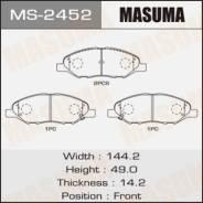 Колодки тормозные дисковые передние Masuma