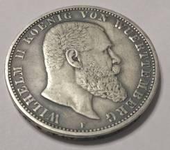 Шикарные 5 марок 1904г. Патина. Серебро.