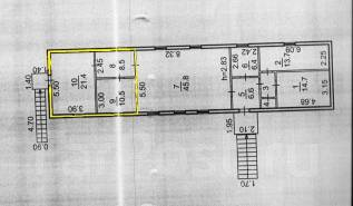 Сдается в аренду помещение. 41кв.м., улица Коммунаров 21, р-н Трудовая. План помещения