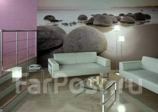 Поклейка обоев. Покраска потолка и стен