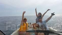 Морские прогулки, рыбалка, водное такси, аренда катера. 6 человек, 50км/ч