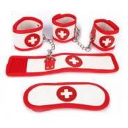 Набор бондажный медсестры BDSM (наручники, оковы, маска)