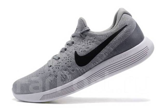 07070f6d Кроссовки мужские беговые Nike LunarEpic Low Flyknit 2 серые Найк ...