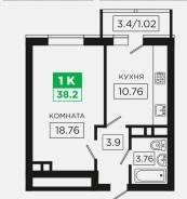 1-комнатная, невкипелова 24/2. гидрострой, частное лицо, 38кв.м.
