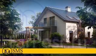 "Проект дома ""Сияние"". 100-200 кв. м., 1 этаж, 4 комнаты, бетон"