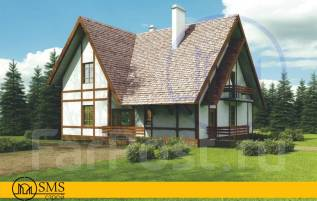 Проект дома в скандинавском стиле. 100-200 кв. м., 1 этаж, 3 комнаты, бетон