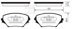 Колодки дисковые передние Toyota RAV4 1.8/2.0 WTi/2.0D4-D 00> AVTOBRAKE AB3251