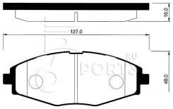 Колодки дисковые передние Дэу Ланос / Матиз / Шевроле Спарк HSB HP2002