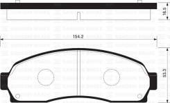Колодки дисковые передние Ford Explorer 4.0/4.8 00> HSB HP2022