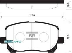 Колодки дисковые передние Toyota Avensis Verso 2.0VVT-i/2.0D4-D 01> TOYOTA 04465-02070