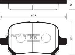 Колодки дисковые передние Toyota Camry 2.2i/3.0i & 24V 96> CTR CKT-3