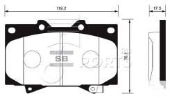 Колодки дисковые передние Toyota Land Cruiser 100 4.7i 32V/4.2TD 98> TOYOTA 04465-60240