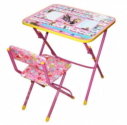 стол стул детский ника умница азбука 3 маша и медведь ку 13