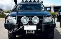 Силовой бампер Black Commercial Toyota L. Prado 120 BBC008