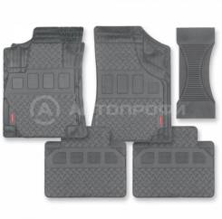 Коврики Autoprofi 1 решение на 400 моделей MAT-710 GY 5 предметов, ПВХ, серый