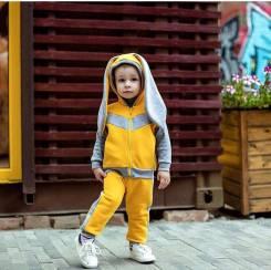 Костюм с начёсом (жилетка и штаны ). Рост: 92-98 см