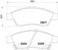 Колодки тормозные. Suzuki Aerio, RA21S, RB21S, RC51S, RD51S