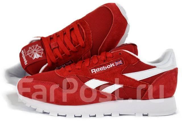 2212d69404c7 Брендовые Замшевые Кроссовки Reebok Classic Leather IS V69420 ...