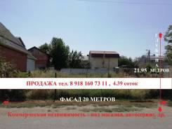 Продам участок под коммерцию 4.39 соток. 439кв.м., собственность, электричество, вода, от частного лица (собственник)
