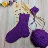Школа рукоделия. Вязание носков спицами.