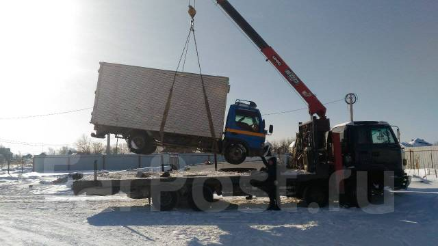 Услуги Грузовика с краном (12/3 тонны)длина 7.5 м, ширина 2.5 метра