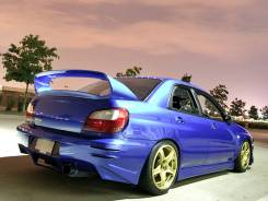 Задний бампер ZeroSports Subaru Impreza 00-02г лупатая